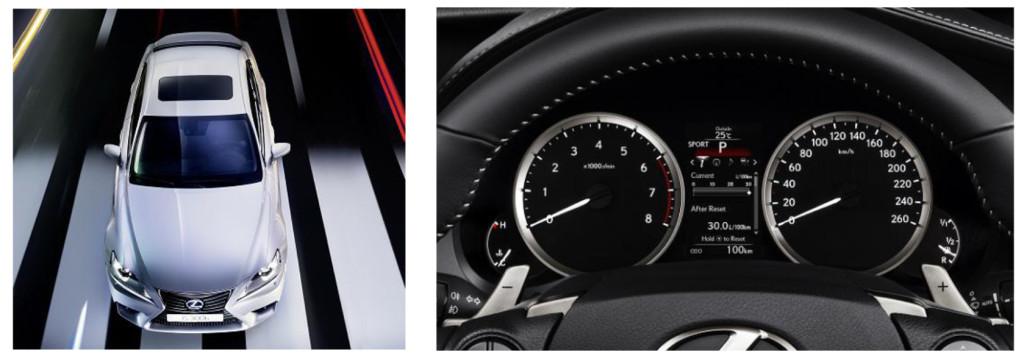 Lexus IS300h SPORT techo solar