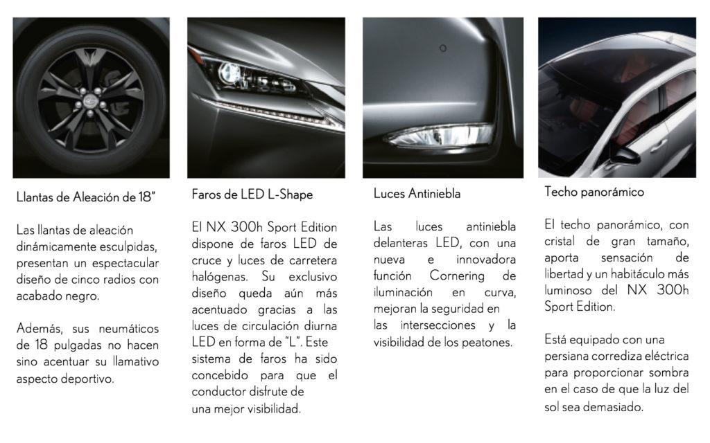 Accesorios NX 300h Sport